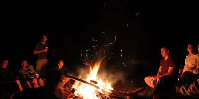 2013 Retreat bonfire